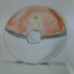 Poké ball en relief (fan art pokémon)