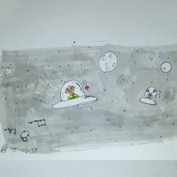 Drôle de rencontre dans l'espace...