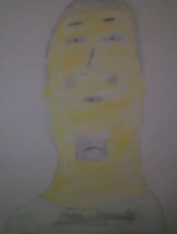 dessin homme jaune